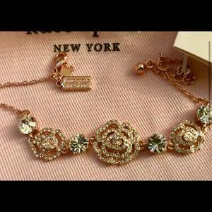 Kate Spade Rose-Gold Pave Crystal Rose Bracelet
